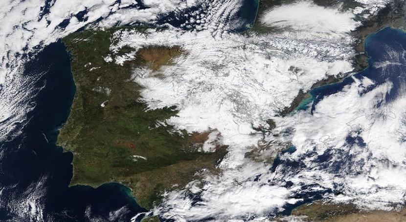 ¿Está relacionado temporal frío y nieve Filomena cambio climático?