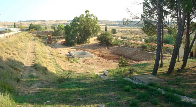 CHE finaliza construcción filtro invertido presa Estanca Alcañiz