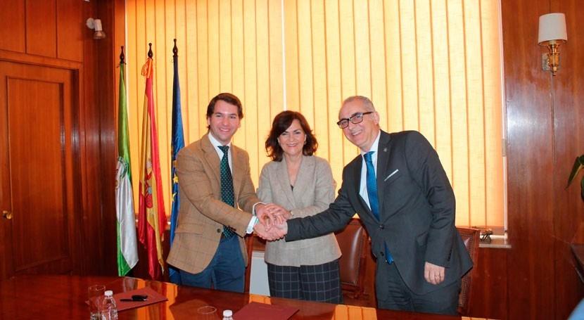 Firmado convenio posibilitar restauración ambiental e integración urbana río Cabra