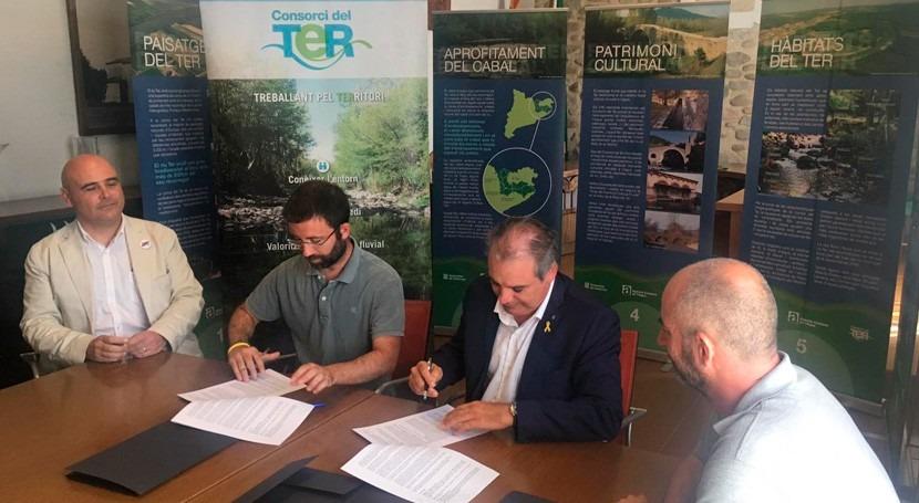 ACA y Consorcio Ter firman convenio custodia fluvial