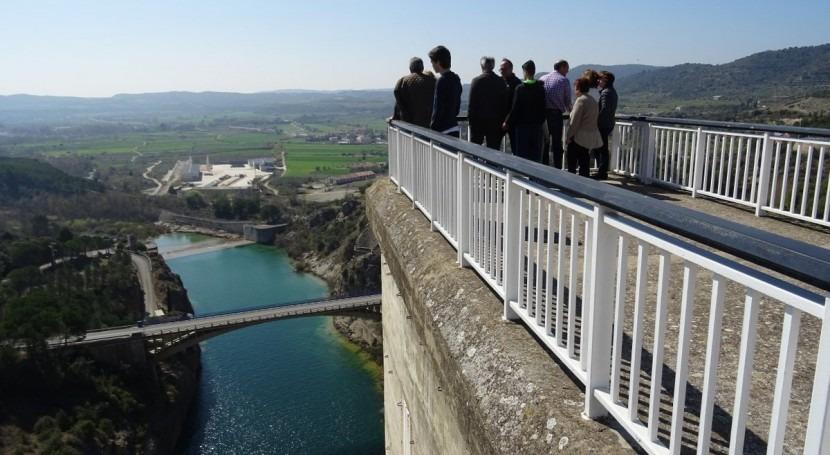 Vuelven visitas presa Grado, Huesca