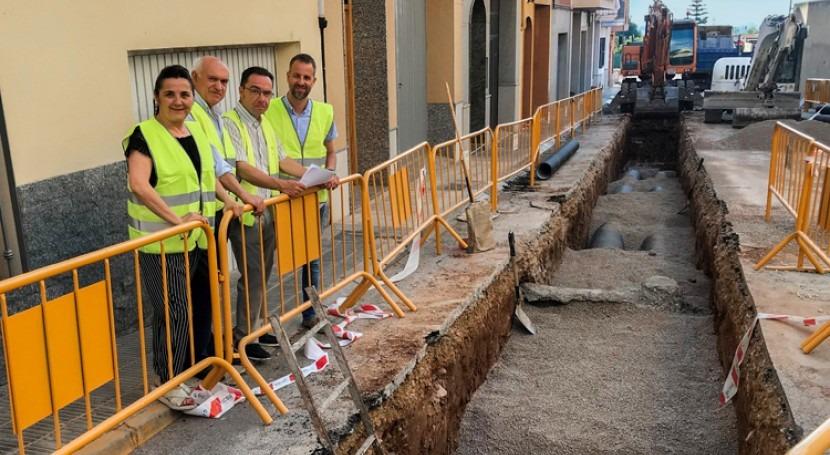 FACSA y Ayuntamiento Vilavella y renuevan red saneamiento calle Horta