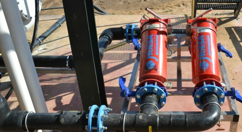 Mejoras tratamiento agua zonas cultivos