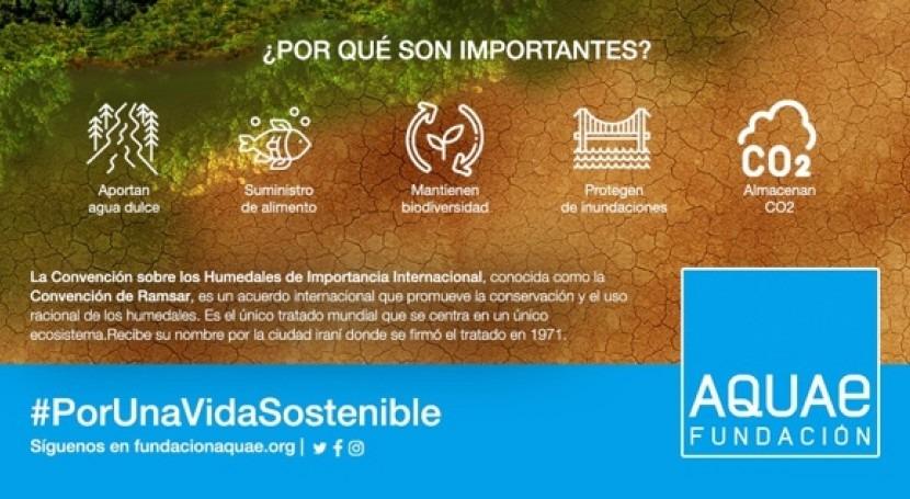 Fundación Aquae nos recuerda que 64% humedales han desaparecido último siglo