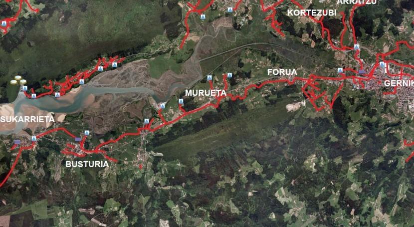 Se modifica colector general Gernika y Busturia proteger restos arqueológicos