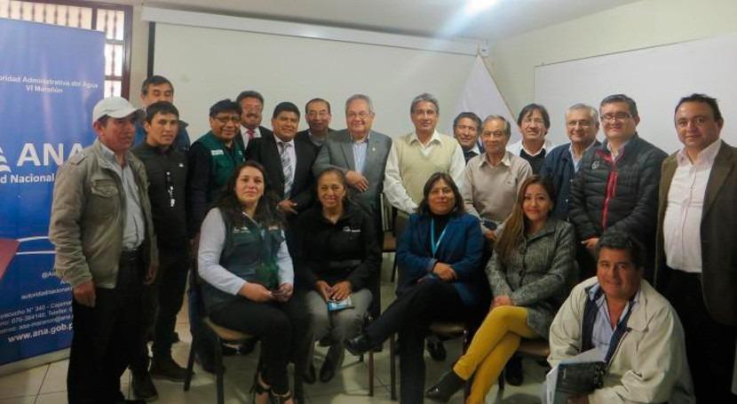 ANA promueve articulación interinstitucional buena gestión agua Cajamarca