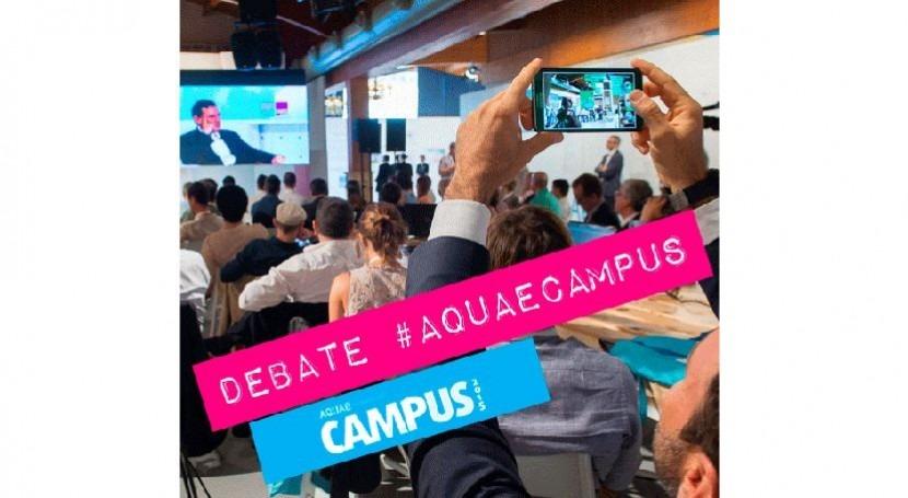 gestión pública y privada ideas que revolucionan mundo, debate Aquae Campus