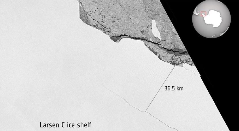 iceberg que dobla tamaño Luxemburgo se aleja Antártida