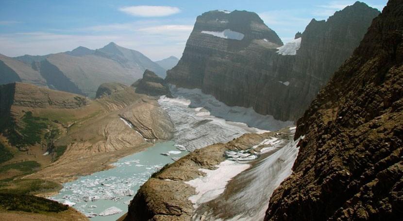 cambio climático reduce drásticamente glaciares Rocosas Estados Unidos
