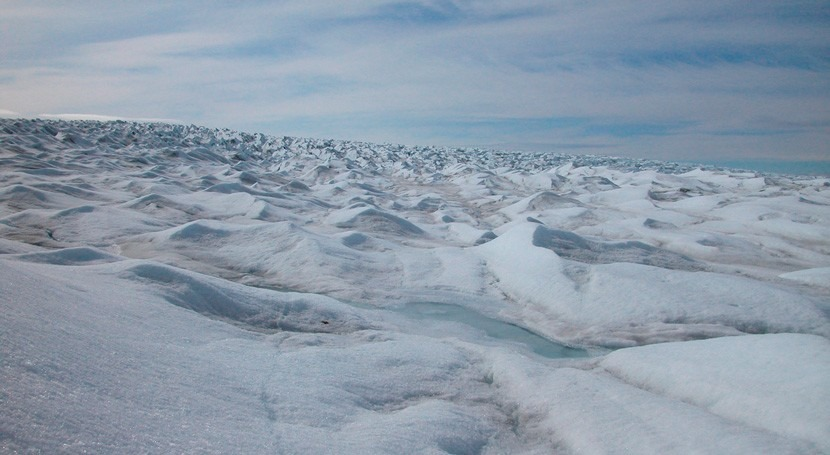 estudio indica que espesor glaciares limitan colapso acantilados hielo