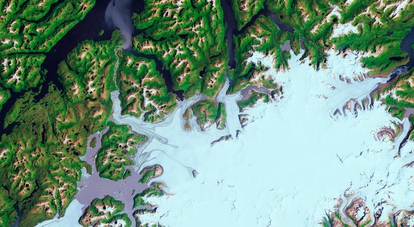 Así se ve espacio glaciar Pío XI, Chile