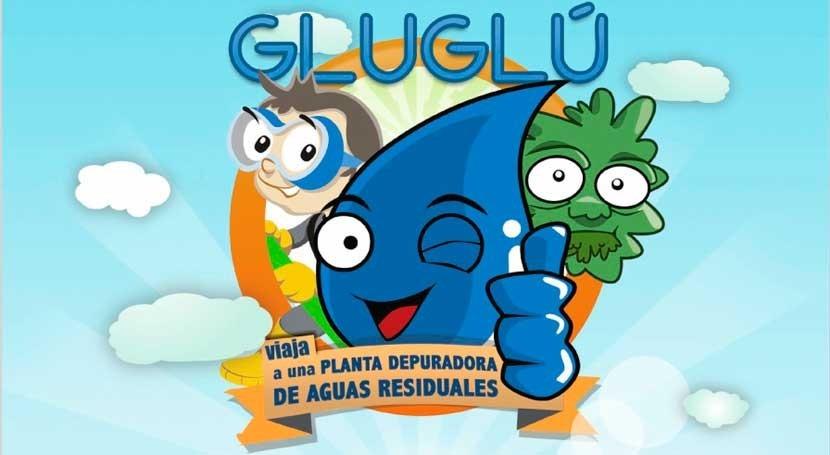 gotita Glu Glu viaja planta depuradora aguas residuales