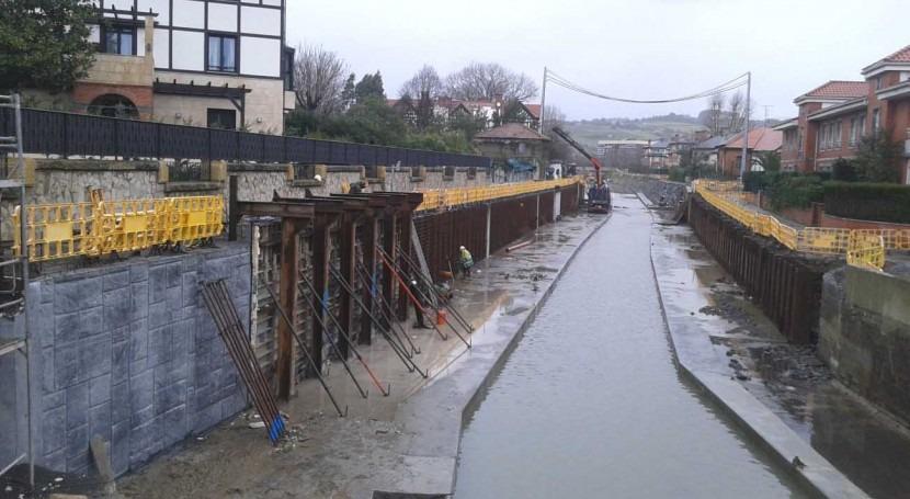 URA inicia texturizado márgenes nuevo cauce Río Gobela Getxo