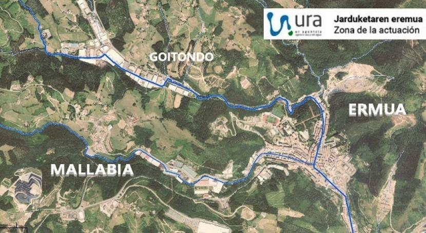 URA licita redacción proyecto conectar aguas residuales polígono Goitondo