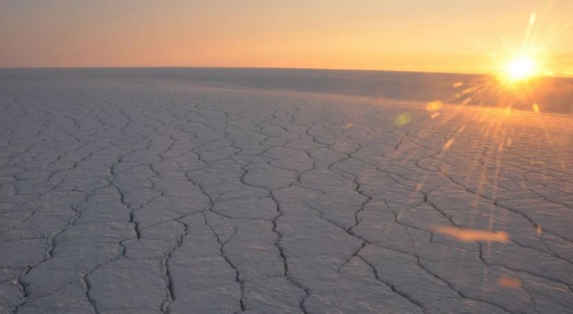 derretimiento capa hielo Groenlandia aumenta cuando está nublado