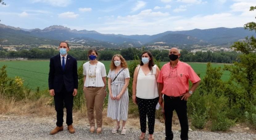 CHE visita obras segunda fase red regadío Peramola, Lleida
