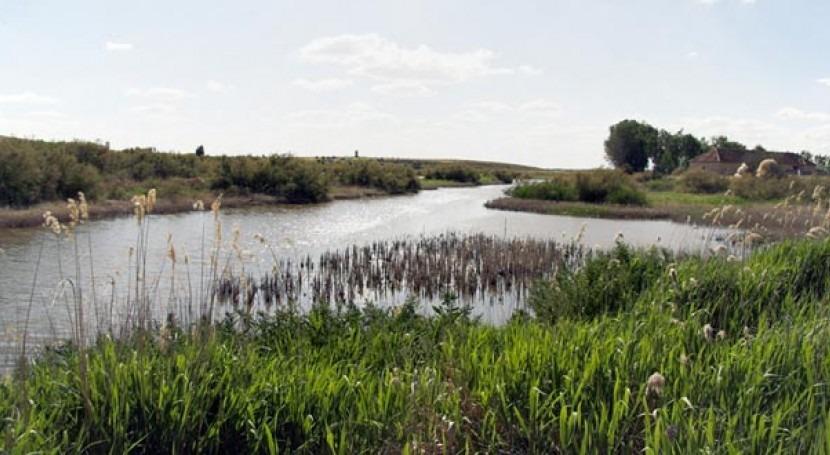 El río Guadiana a su paso por el parque nacional de Las Tablas de Daimiel.