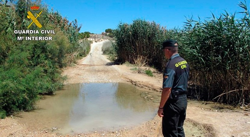 Guardia Civil investiga posibles vertidos ilegales purines Torres, Murcia