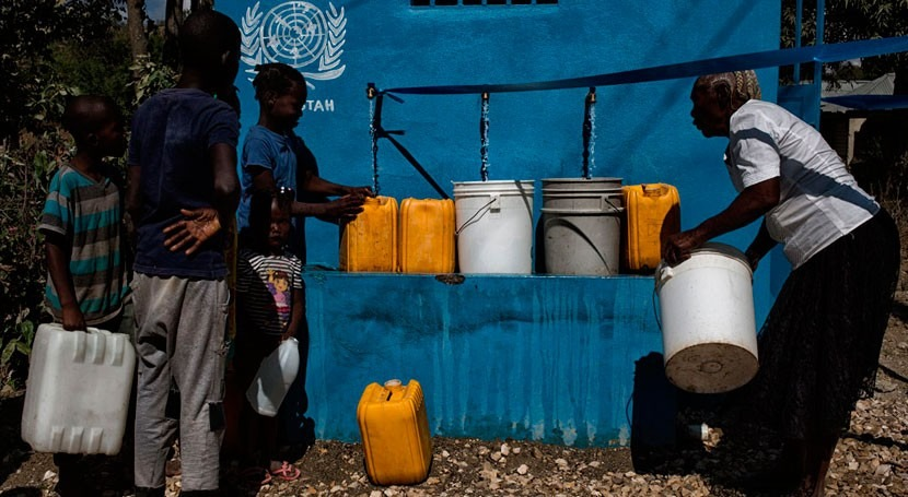 ONU insta mantener apoyo lucha cólera Haití