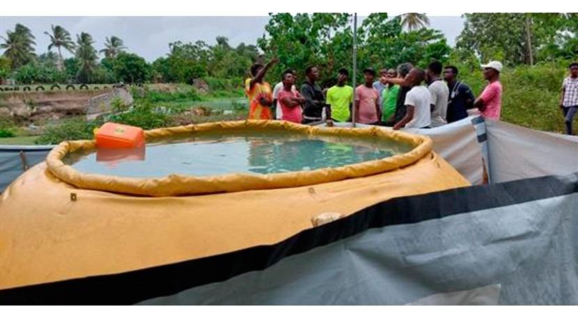DINEPA y AECID instalan sistema simplificado potabilización Cavaillon, Haití