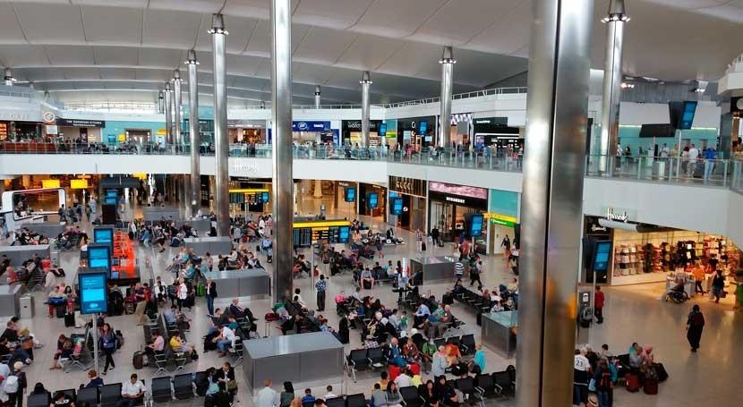 aeropuerto Heathrow aconseja llevar botellas agua vacías rellenar fuentes