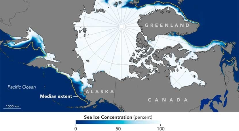 océano Ártico se hiela menos este invierno