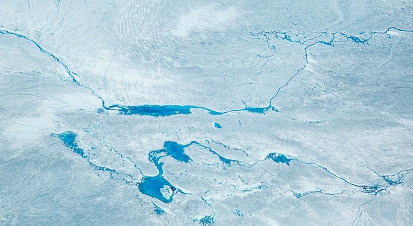 imágenes drones muestran como hielo Groenlandia se vuelve cada vez más inestable