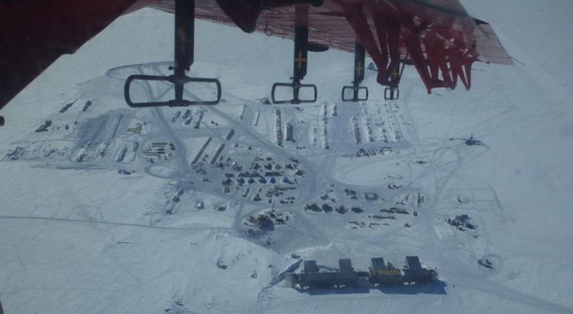 cantidad inusual calor geotérmico derrite rápidamente hielo cerca Polo Sur