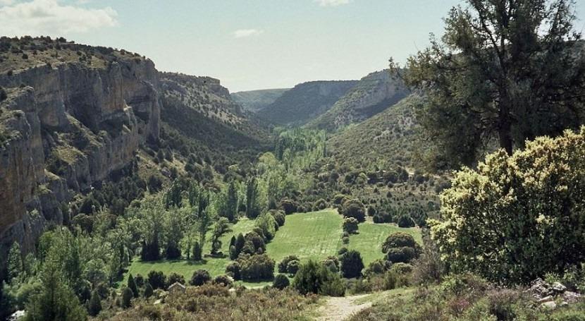 Imagen del Parque Natural de las Hoces del Riaza (wikipedia/CC)