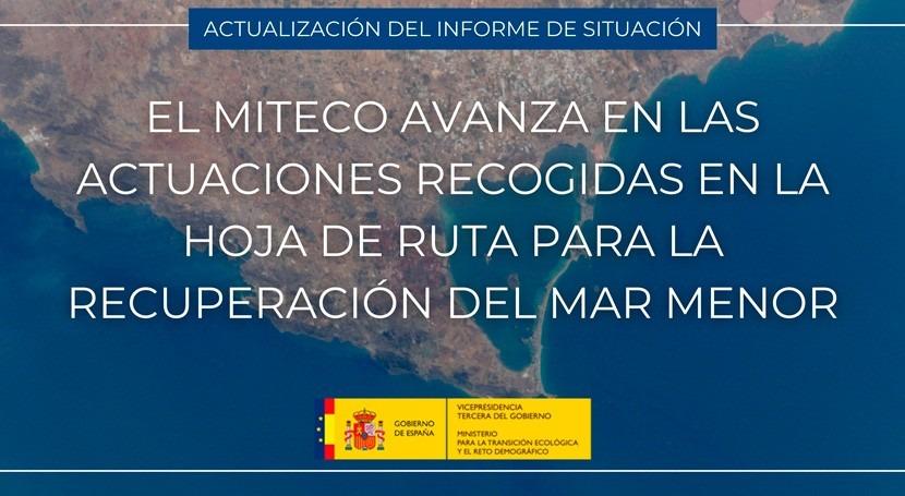 MITECO avanza actuaciones recogidas Hoja Ruta recuperar Mar Menor