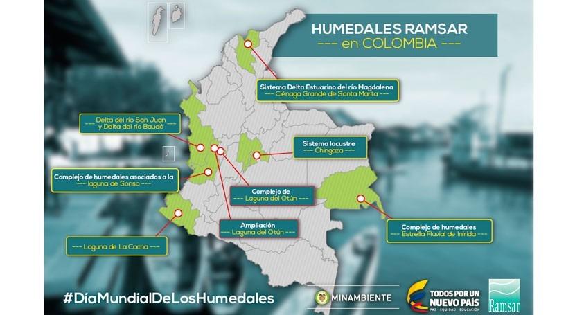 Gobierno Colombia declara dos nuevos Humedales Importancia Internacional