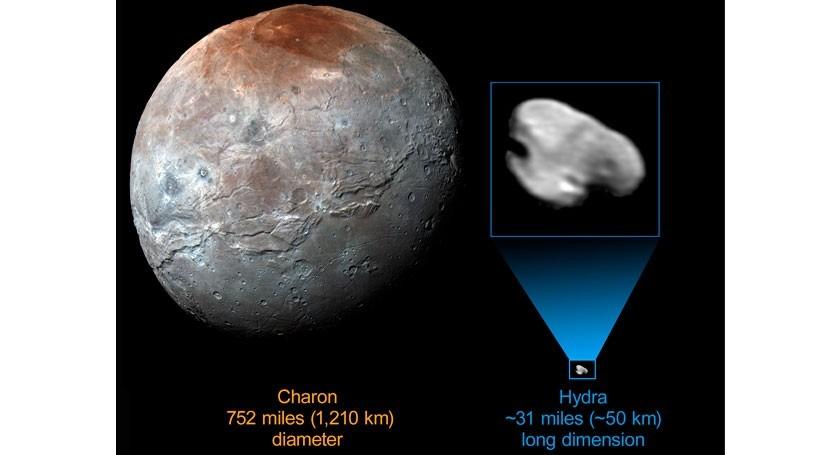 Hydra, pequeña luna más externa Plutón, está formada hielo agua casi puro