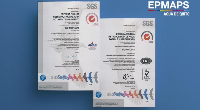 EPMAPS renueva certificaciones iso sistemas gestión calidad y gestión ambiental