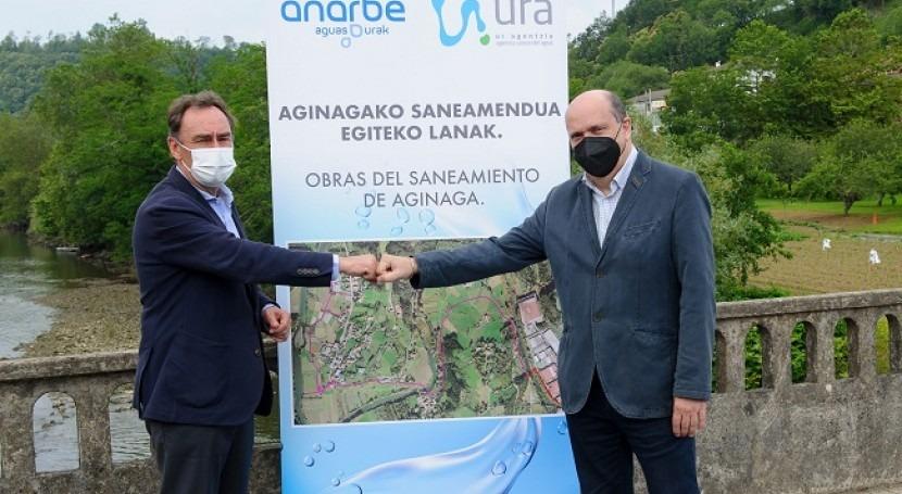 URA y Añarbe acuerdan próxima ejecución saneamiento Aginaga Usurbil