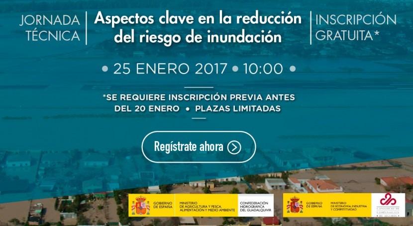 """Abierta inscripción jornada """"Aspectos Clave Reducción Riesgo Inundación"""""""