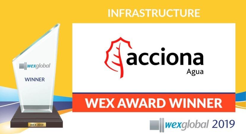 ACCIONA Agua gana premio mejor infraestructura sostenible XII congreso Wex