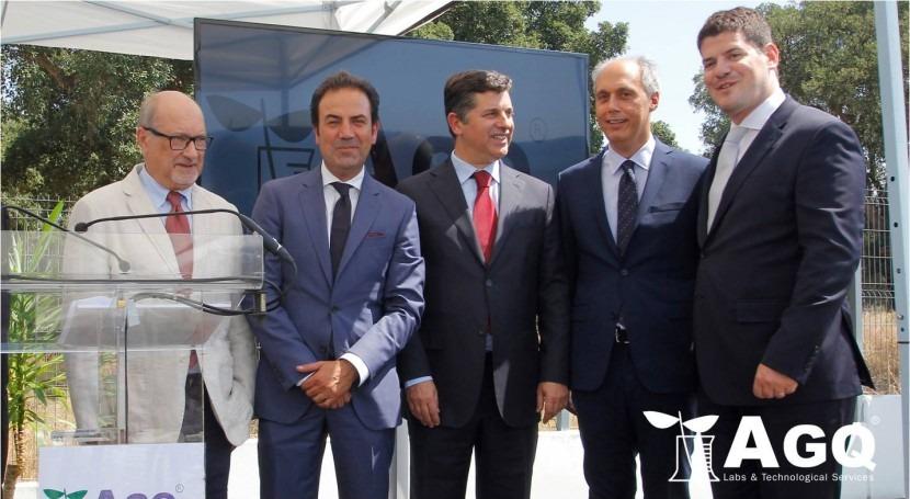 Ministro Economía Portugal inaugura nuevo laboratorio AGQ Labs Lisboa