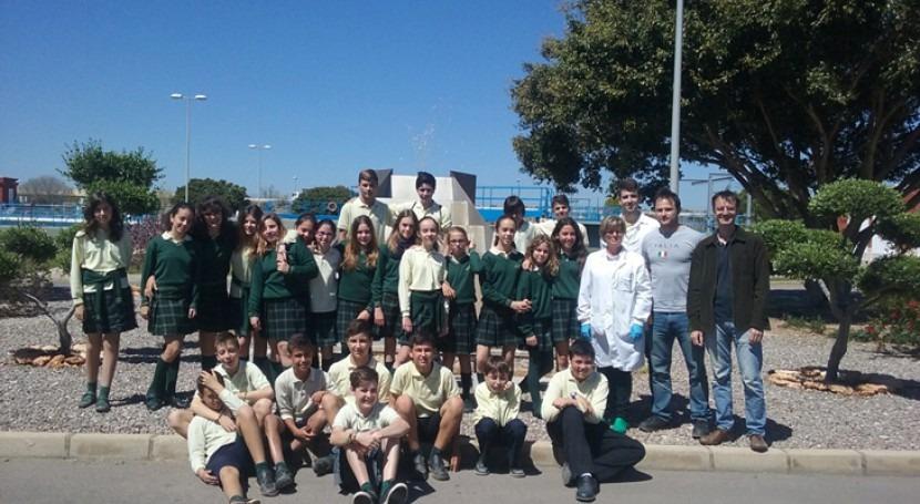 Colegio Mater Dei visita depuradoras Castellón y Almazora gestionadas FACSA