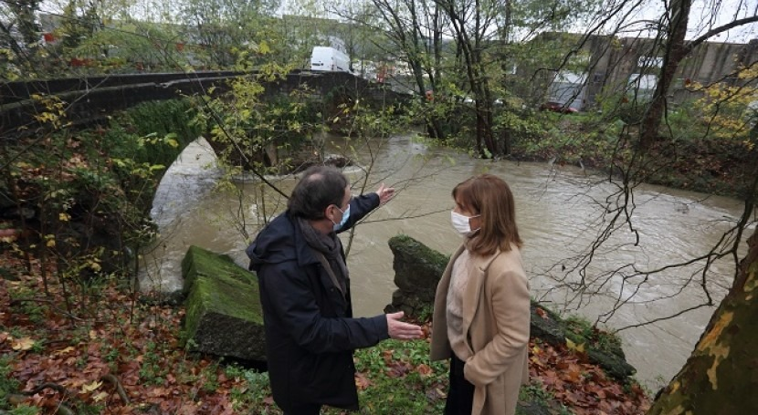 URA arranca obras defensa inundaciones Ibaizabal paso Galdakao