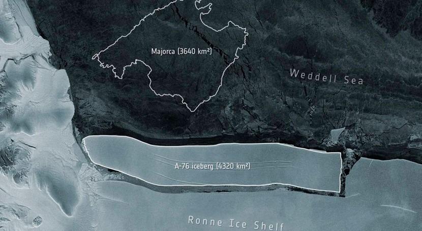 iceberg más grande mundo, mayor que isla Mallorca, se desprende Antártida