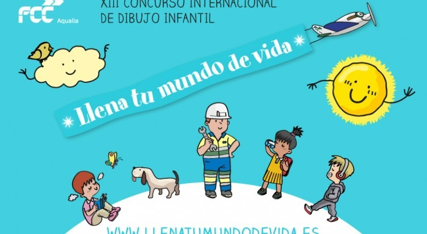 Ocho niños Huelva, finalistas Concurso internacional dibujo infantil Aqualia