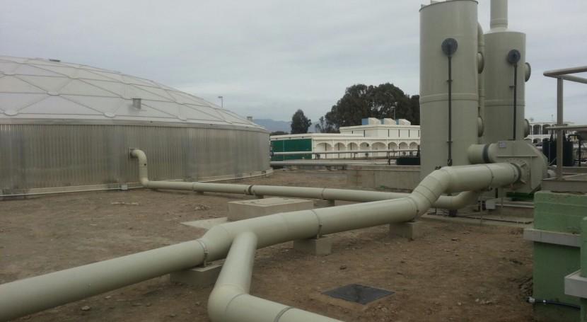 Terminados trabajos confinamiento y desodorización EDAR Bobar (Almería)