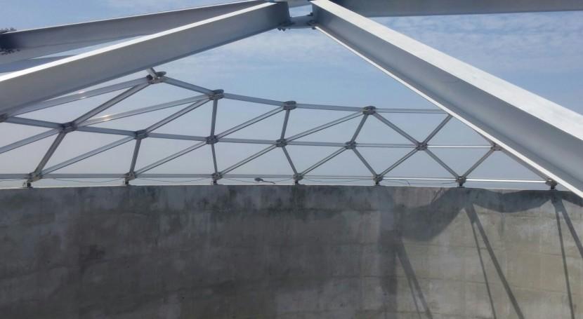 JSF Hidráulica instala domos Alusphere tanques almacenamiento agua (Perú)