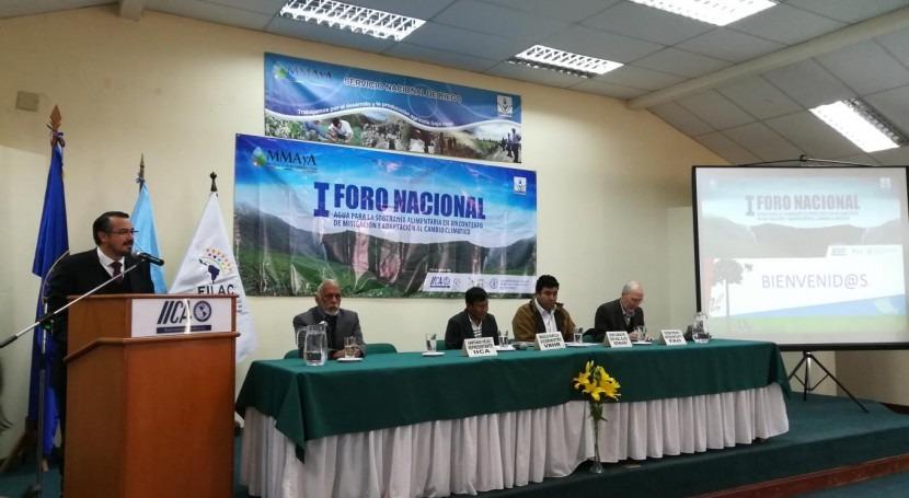 Bolivia busca vías uso eficiente recurso hídrico producción agroalimentaria