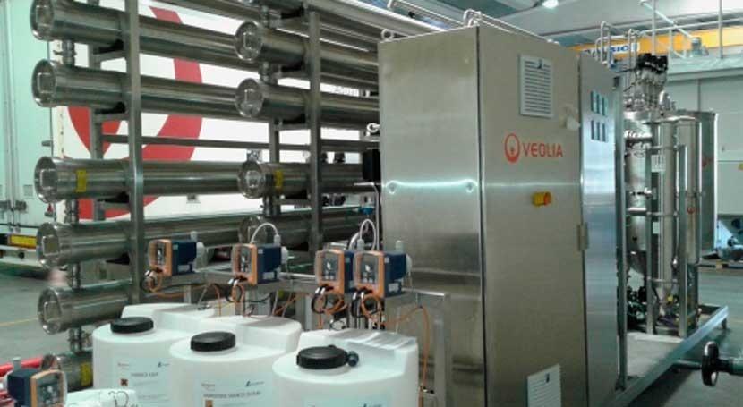 Veolia se adjudica instalación agua purificada industria cosmética Madrid