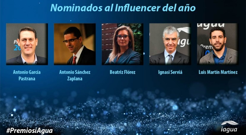 influencers han llegado #PremiosiAgua