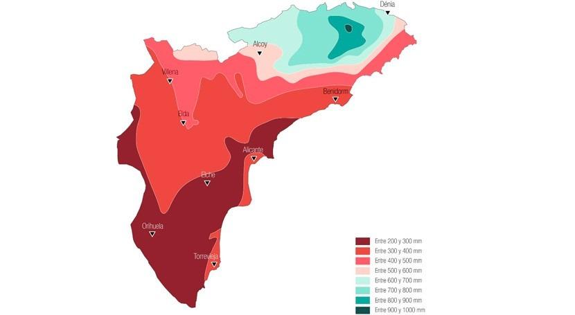 principal problema provincia Alicante: déficit hídrico