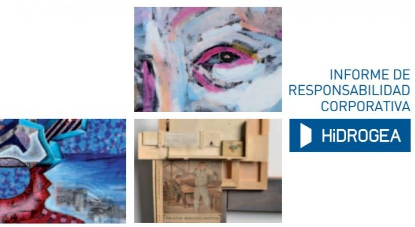 Portada del informe de RSE 2014 de Hidrogea