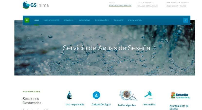 Servicio Agua Seseña pone servicio nueva página web