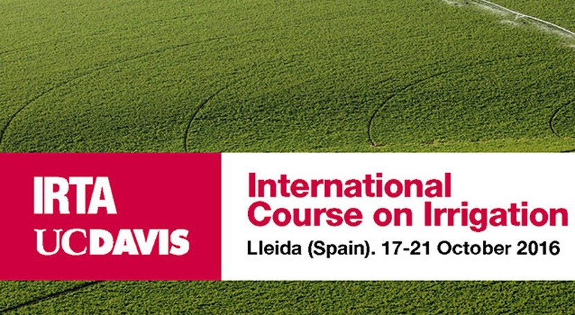 IRTA y UC Davis organizan Curso Internacional Riego